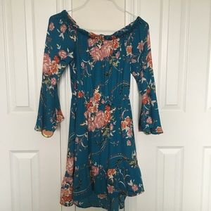 Boho Off the Shoulder Floral Dress